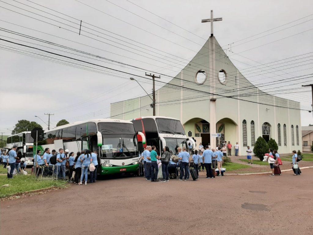 Megarromaria parte para Aparecida do Norte - O Paraná