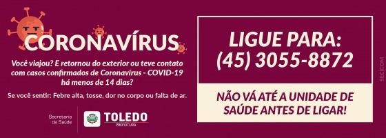Toledo – Coronavírus – Ligue